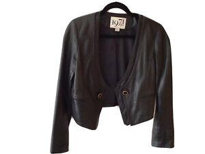 Reiss Soft Black Leather Jacket Size 10