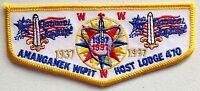 AMANGAMEK WIPIT OA 470 NATIONAL CAPITAL PATCH 1997 HOST JAMBOREE FIRST FELT FLAP