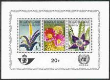 Belgium**FLOWERS- SHEET 3vals-Cactus-Azalea-Vresia-1965-Bloem-Fleur-Blumen-Flor