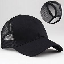 Lot  Ponytail Baseball Cap Women Messy Bun Baseball Hat Snapback Sun Sport Caps