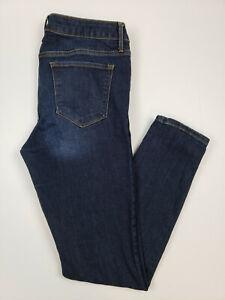 Old Navy Women's Jeans Size 10 Rock Star Blue Skinny Leg Denim Dark Wash Jeans
