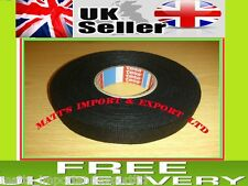 19mm x 25m TESA Tape PET FLEECE CABLE ROLL ADHESIVE CLOTH FABRIC WIRING HARNESS