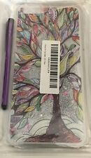 APPLE IPHONE 6s 6 PLUS PHONE CASE & STYLUS Moving Sparkles Stars OIL TREE DESIGN