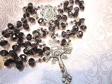 Gorgeous purple crystal rosary w silver trim 12-12-1