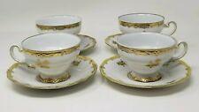Vintage Weimar German Porcelain Katharina 17010 Gold Edged Tea Cups -  Set of 4