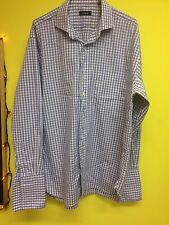 Men's Purple Gingham Style Shirt, Neck 16.5, Chest 52""