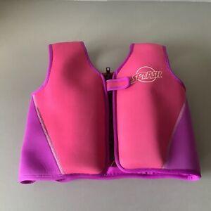 Girls 'SPLASH' Pink FLOATATION JACKET, SWIMMING VEST  AGE 2-3 YEARS, Buoyancy