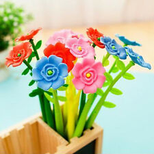 12pcs/lot Rose Flower Pens Fashion New Prizes Tool Office Home Table Decorations