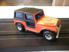 Aurora Afx Tyco Red Jeep CJ-7 HO Slot Car Near Mint
