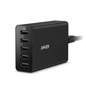 Anker PowerPort 5 (40W 5-Port USB Charging Hub) Multi-Port USB Charger for iP...