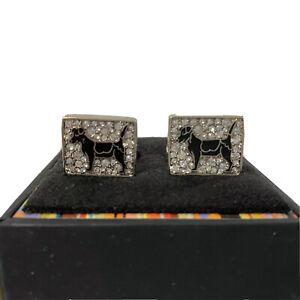 U-1258960 New Authentic Paul Smith Dog Diamond Cufflinks $125