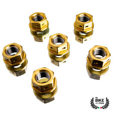 Yamaha YZF R6 R1 6 Piece Sprocket Nuts Gold M10x1.25 Gold Anodized Perforated