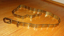 Vintage Gold Tone Joineted Metal Rectangle Belt M to L 1980's rocker goth glam