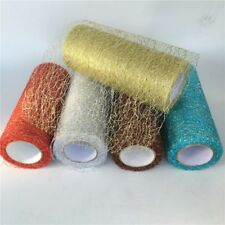 Tulle Christmas Ribbons Solid Color Beautiful Crafting Decorations For Designing