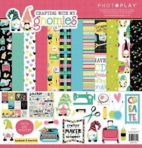 """PhotoPlay Collection Pack 12""""X12""""-Crafting With My Gnomies"""