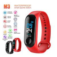 M3 Smart Watch Heart Rate Blood Pressure Monitor Sport Fitness Tracker Bracelet&