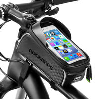 RockBros MTB Waterproof Bike Front Tube Cycling Bag 6.0'' TouchScreen Phone Case