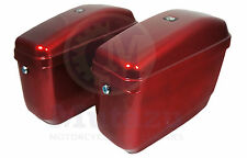 GA Hard Saddle bags burgundy red for most Vulcan VN 750 800 900 1500 1600 1700