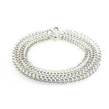 EUROPEAN 4-IN-1 SILVER BRACELET KIT-Chain Maille/Mail Jump Ring Jewelry Making