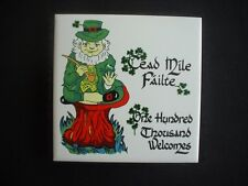 """TEAPOT STAND /  WALL PLAQUE ~""""CEAD MILE FAILTE"""" ~""""ONE HUNDRED THOUSAND WELCOMES"""""""