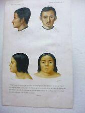 Gravure couleur 19° portrait :1°/2° Soorjo Coomar Chucherbutty...3°/ 4° Ujé-jock