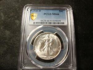 1946-D PCGS MS 66 Walking Liberty Half Dollar PQ Coin SLABZ ABQ