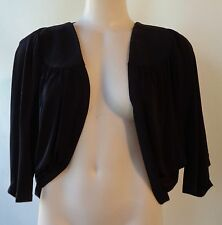 Brown Sugar size 12 stretch black top NWT New short sleeve free postage