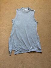 NEXT Ladies Metallised Grey Sleeveless Shirt Dress, Size UK16
