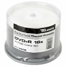 DVD+R 16X Traxdata Thermal Printable FF White Tarrina 50 uds (by Ritek)
