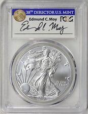 2017-W $1 American Burnished Silver Eagle PCGS SP70 FDOI Edmund C Moy Wash DC