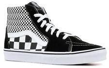 VANS SK8-HI (MIX CHECKER) BLACK WHITE SKATE SHOES SZ 10.5 MENS CANVAS SUEDE NIB