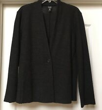 EILEEN FISHER  One Button blazer jacket   wool crepe unlined,  Size XL