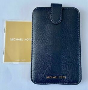 Michael Kors Blue Leather Phone Case for iphone 5, 5S