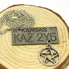 Accessories supernatural, dean of the license plate pentagram necklace Jewelry*
