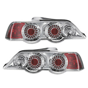 FOR 2002-2004 ACURA RSX L.E.D. LOOK CHROME TAIL LIGHTS