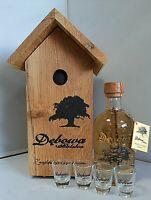Debowa Vodka Golden Oak mit 0,7l  mit Vogelhäuschen Bar