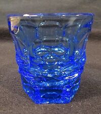 Fostoria Argus Blue HFM Henry Ford Museum Flat Juice Glass 2 7/8""