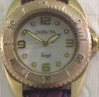Invicta 15008 Angel Diver Quartz Mother-of-Pearl W/7 Leather Strap Rose Gold Cas