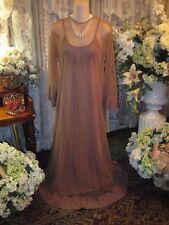 Elegant ~ Vtg Blanche by Ralph Montenero Nightgown & Chiffon Cover Up ~ Sz S - M