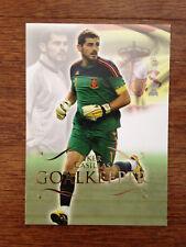 2011 Futera Unique Soccer Card - Spain CASILLAS Mint