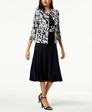 Jessica Howard Dress & Floral-Print Jacket MSRP $99 Size 10 # 20A 262 NEW