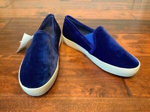 Joie Blue Velvet Slip-On Shoes, Size 35.5 (EU) 5.5 (US), New