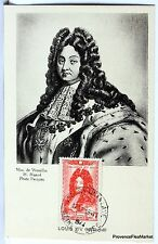 France Carte Maximum  1944 LE ROI SOLEIL LOUIS XIV   Yt 617