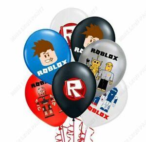 "10 X 12"" ROBLOCKS Multi Colour Latex Printed Balloons Birthday Party, BOYS"