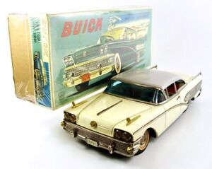 "1958 Buick Century 2-Door 14 1/2"" (36.8 cm) Japanese Tin Car by ATC & Ichiko NR"