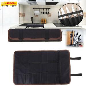 14 Teile Koch Messertasche Rolltasche Küchenmesser Aufbewahrung Messerkoffer DE