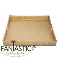 Fantastic:) ™ Decorative Serving Tray With Metallic Finish ( Square Alligator )