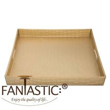 Fantastic:) ™ Decorative Serving Tray With Metallic Finish ( Square Alligator )