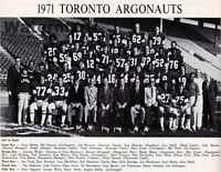 1971 CFL Toronto Argonauts Team Photo Joe Theisman Black White Pic 8 X 10 Photo