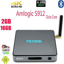 New MECOOL BB2 4K S912 Octa Core Android 6.0 2G/16G Smart TV Box WiFi